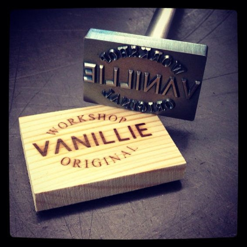 ood creations with a branding iron