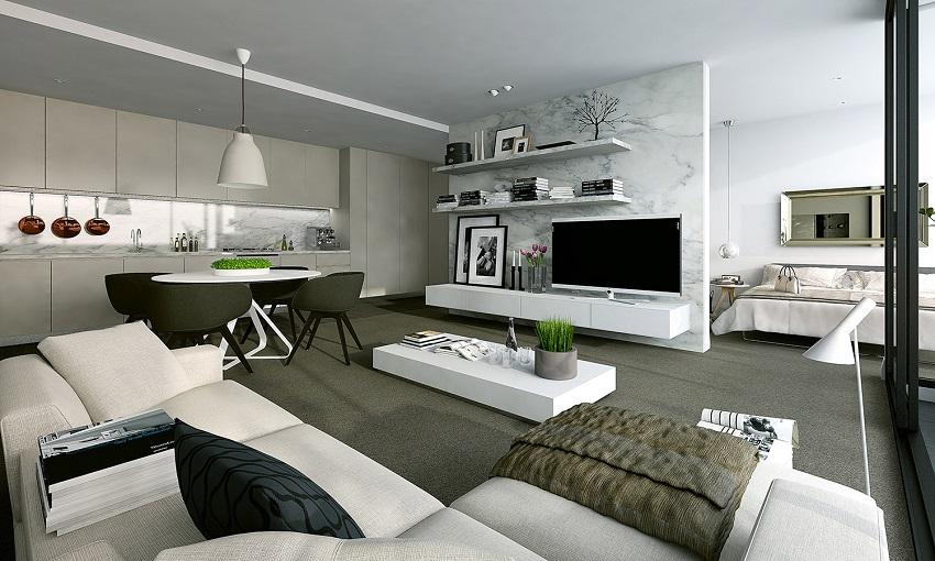 modern apartments concept